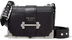 Prada - Cahier Leather Shoulder Bag - Black