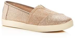 Toms Women's Avalon Glitter Slip-On Sneakers