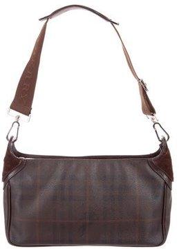 Burberry Smoked Check Shoulder Bag - BROWN - STYLE