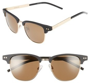 Polaroid Women's 51Mm Polarized Cat Eye Sunglasses - Matte Black/ Gold