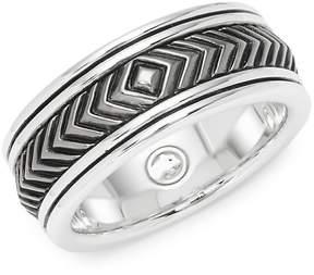 Effy Men's Sterling Silver Engraved Band Ring
