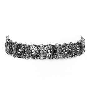 Amrita Singh Silvertone Rama Choker Necklace