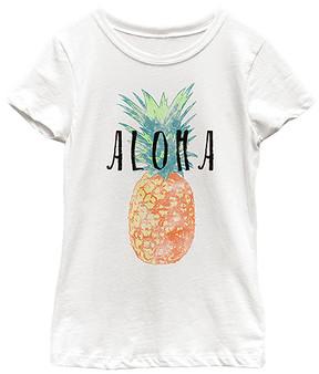 Fifth Sun White 'Aloha' Tee - Girls