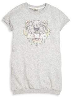Kenzo Toddler's & Girl's Jungle Tiger Sweat Dress