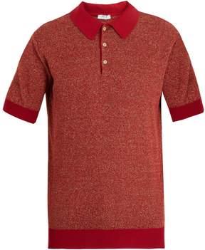 Boglioli Point-collar knit polo shirt