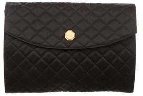 Jil Sander Quilted Satin Clutch