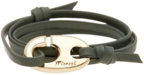 Miansai Brummel Leather Wrap Hook Bracelet