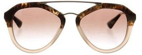 Prada Two-Tone Oversize Sunglasses