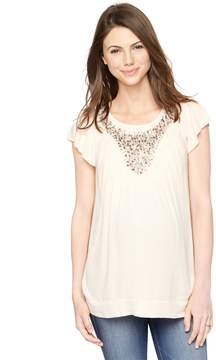 A Pea in the Pod Embellished Maternity Blouse