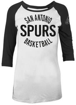 5th & Ocean Women's San Antonio Spurs Rayon Raglan T-Shirt
