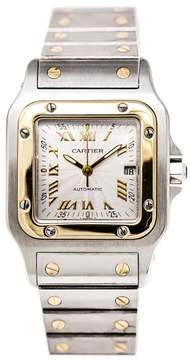 Cartier Santos W20058C4 18K Yellow Gold & Stainless Steel Silver Dial 29mm Mens Watch