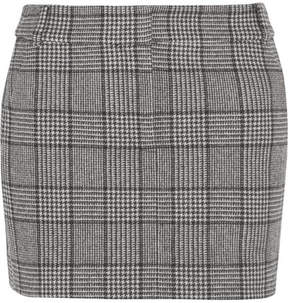 Tibi Aldridge Checked Wool-blend Tweed Mini Skirt - Black