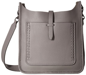 Rebecca Minkoff Unlined Feed Bag with Whipstitch Handbags - DARK CHERRY - STYLE