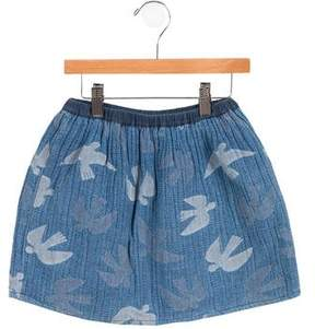Bobo Choses Girls' Knit Bird Skirt
