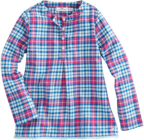 Vineyard Vines Girls Piper Plaid Flannel Popover