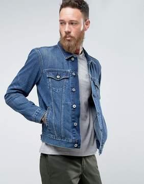 Edwin High Road Denim Jacket Mid Sleet Wash