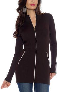 Belldini Chocolate Zip-Up Jacket - Women