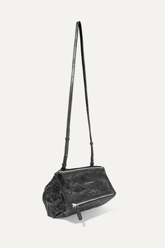 Givenchy Mini Pandora Bag In Washed-leather - Black