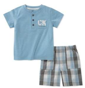 Calvin Klein Jeans Baby Boy's Two-Piece Henley and Shorts