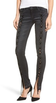 Blank NYC Women's Blanknyc Crash Tactics Lace Up Skinny Jeans