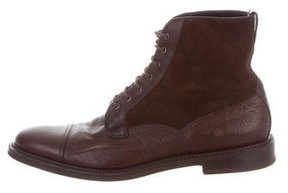 Fratelli Rossetti Leather Suede-Trimmed Boots