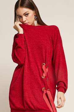 Forever 21 Oversized Lace-Up Dress