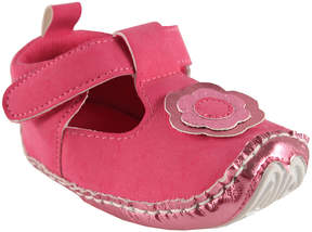Luvable Friends Pink Flower T-Strap Shoe - Girls