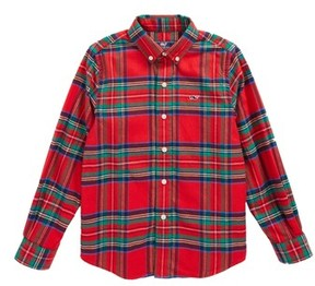Vineyard Vines Toddler Boy's Jolly Plaid Whale Flannel Shirt
