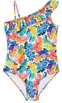 Milly BANANA-LEAF-PRINT ONE-PIECE SWIMSUIT