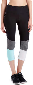 ABS by Allen Schwartz Black & Aqua Color Block Capri Leggings - Women