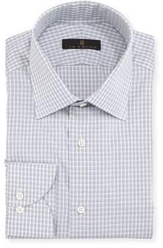 Ike Behar Gold Label Check Cotton Dress Shirt, Gray
