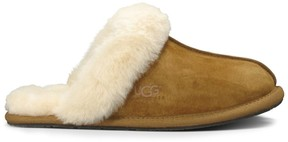 Sole Society Scuffette II suede sheepskin slipper