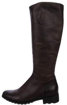 Hunter Leather Knee-High Boots