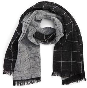 Canali Men's Windowpane Wool Blend Scarf