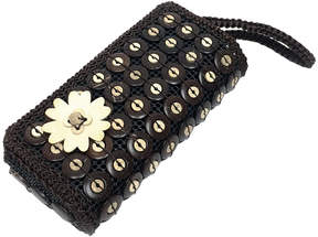 Chloé Brown Floral Clutch