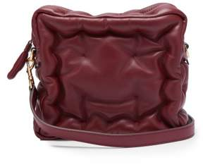 Anya Hindmarch Chubby Cube Leather Cross Body Bag - Womens - Burgundy