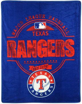 Northwest Company Texas Rangers Micro Raschel Structure Blanket