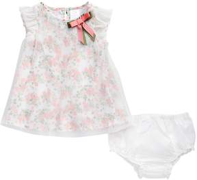 Youngland Baby Girl Floral Dress & Bloomers Set