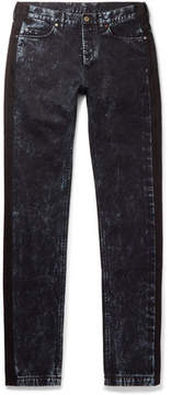 Lanvin Slim-Fit Striped Bleached Denim Jeans