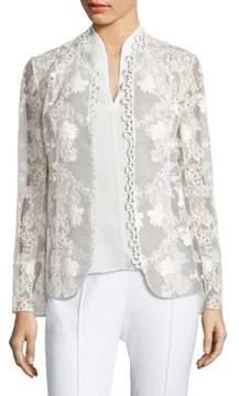Elie Tahari Tori Embroidered Jacket