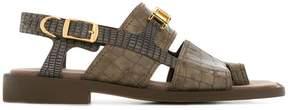 Stella McCartney croco-embossed sandals
