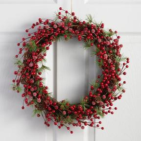 World Market Berry and Pine Wreath
