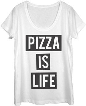 Fifth Sun White 'Pizza Is Life' Tee - Women