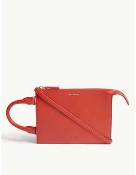 Jil Sander Red Tootie Mini Leather Tote Bag