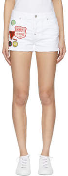 DSQUARED2 White Cool Girl Shorts