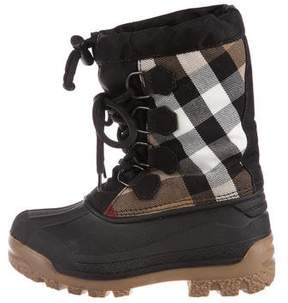 Burberry Boys' House Check Print Boots