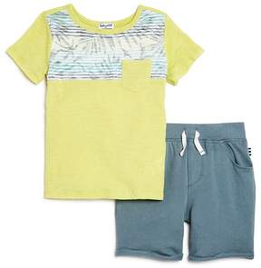 Splendid Boys' Contrast Palm-Print Tee & Terry Shorts Set - Little Kid