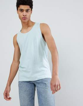 Jack and Jones Originals Tank In Blue