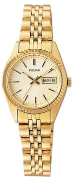 Pulsar Women's Functional Calendar Watch - Gold Tone with Champagne Dial - PXX004