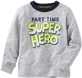 Osh Kosh Toddler Boy Part Time Super Hero Ringer Tee